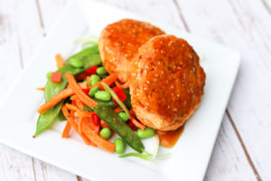 Teriyaki Glazed Salmon Cakes