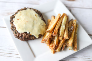 Wild Rice Burger & Parm Fries