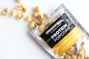 White Chocolate Peanut Butter Protein Popcorn